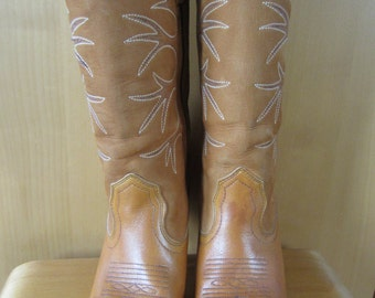 Pair of 1970s Frye cowboy/western boots size US 6.5 UK 4.5