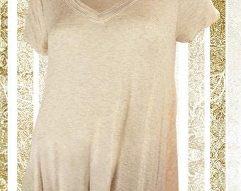 V-neck with Side Slits Shirt