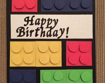 Handmade Lego Birthday Card