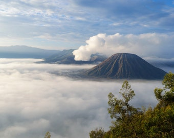 Mount Bromo, digital print, volcano in Java Indonesia, travel photography,nature photography