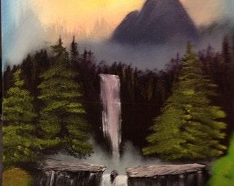 Waterfall hidden in the woods
