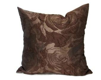 Brown Pillow, Brown Pillows,  Brown Bed Pillow, Brown Pillow Cover, Brown Decorative Pillow, Brown Couch Pillow, Brown Sofa Pillow