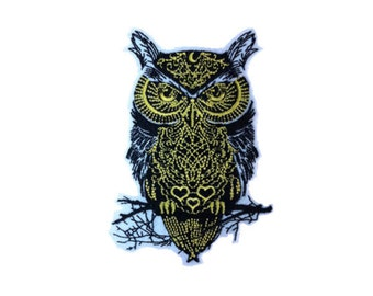 owl patch animal patch embroidered patch iron on patch badge sew on patch iron on patches