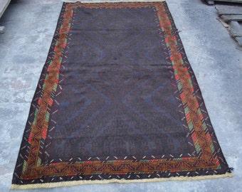 7 x 4'1 Ft Handmade Rug Afghan Tribal Baluch Zangeri Carpet