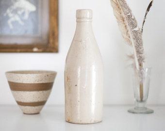 Stoneware Beer Bottle