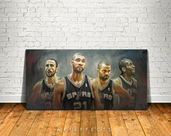 San Antonio Spurs Canvas High Quality Giclee Print Wall Decor Art Poster Artwork