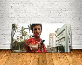 Scarface Canvas High Quality Giclee Print Wall Decor Art Poster Artwork