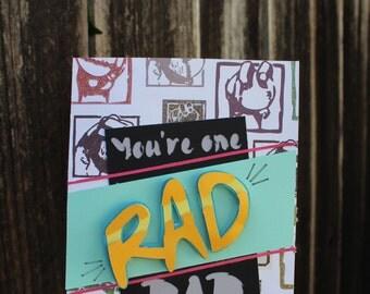 You're One Rad Dad Blank Card
