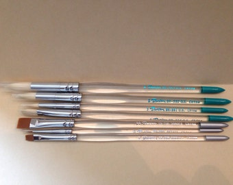 7 assorted Duncan brushes