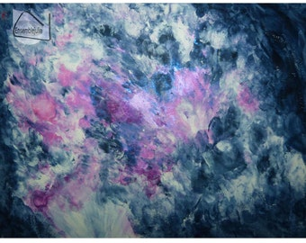 Print abstract acrylic painting  fine art paper