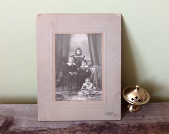 Vintage Photo of Family of Kids