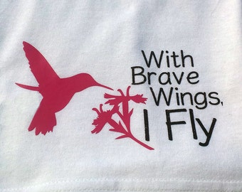 Chemo Head Wrap for Cancer Hair Loss - With Brave Wings, I Fly