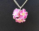 Pretty Pink Flower Bunch necklace