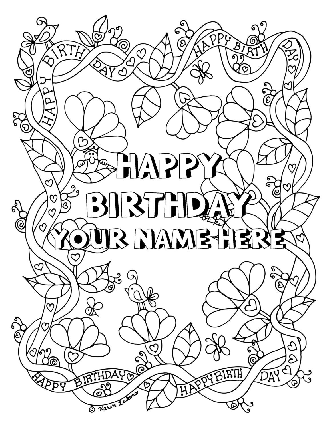 adult cute customized coloring pages images top il fullxfull 1092422225 d48v jpg happy birthday customized with