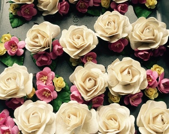 Handmade Paper Flower Wrist Corsage