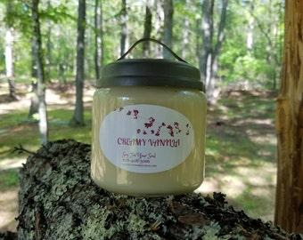 16 oz Creamy Vanilla 100% soy Candle