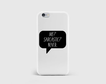 Sarcasm iPhone Case, Typography Quote, Girls Fashion, Speech Text, Funny Humour Phone Case Cover iPhone 6 iPhone 5 iPhone SE \ hc-pp059