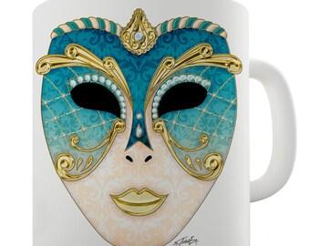 Venetian Carnival Mask Ceramic Funny Mug