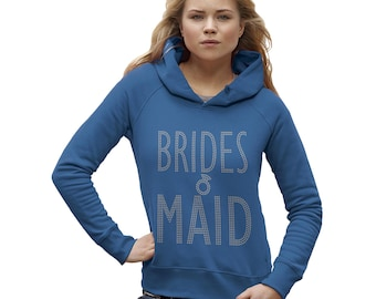 Women's Wedding Brides Maid Rhinestone Hoodie