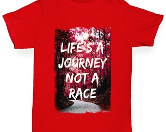 Girl's Life's A Journey Not A Race T-Shirt