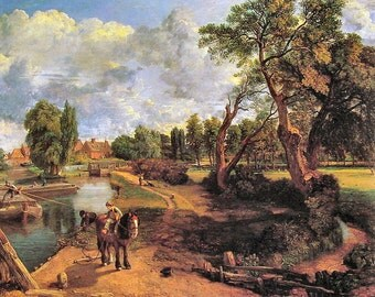 Flatford Mill by John Constable. A4 Poster Quality Print.