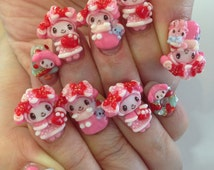 "3D nail art parts ""X'mas My melody design"""