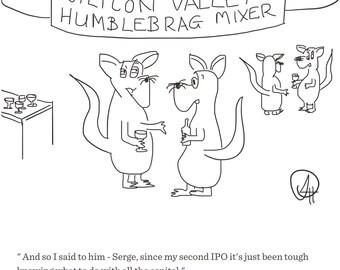 Cartoon Print 'Humblebrag Mixer' by Sarah Hunt