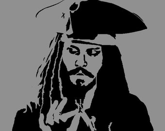 Captain Jack Sparrow Stencil (Reusable)