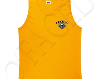 Lucky 7 Adults Sleeveless Tee Lucky 7 Tank Top for Men Live to Ride Tanks - 1277P_GMTT