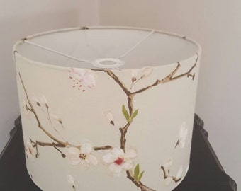 Handmade 30cm drum ceiling shade.  Flower and branch print