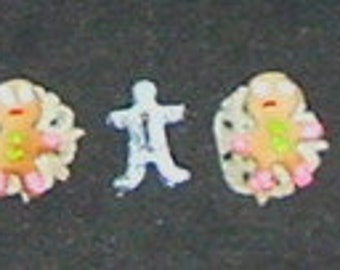 MINIATURE GINGERBREAD COOKIES with Mold