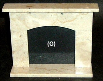 Miniature FIREPLACE ITALIAN Pearl Beige MARBLE (G) Made By: Peter Lucchase