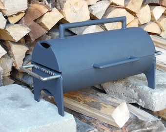 """6""""x14""""(x2) Hibachi grill, compact grill, portable grill, charcoal BBQ, hinged double 6""""x14"""""""