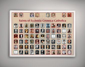 Saints of Ecclesia Gnostica Catholica Poster
