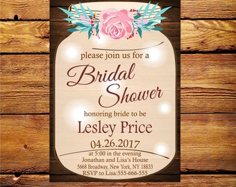 Wedding Shower Invitation,Couples Shower Printable,Couples Wedding Shower Invitation,Bridal Shower Invitation,Floral Bridal Shower Invite