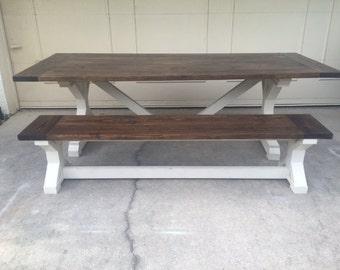 8ft X Farmhouse Table