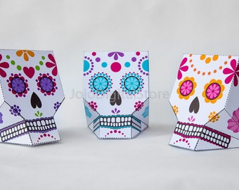 Sugar Skull Favor Box Set for Day of the Dead Party