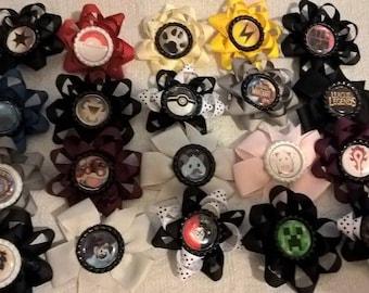 Hand made/hand sewn hair bows