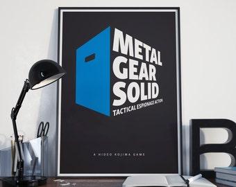 Metal Gear Solid - Minimalist Art Print Gamer Poster