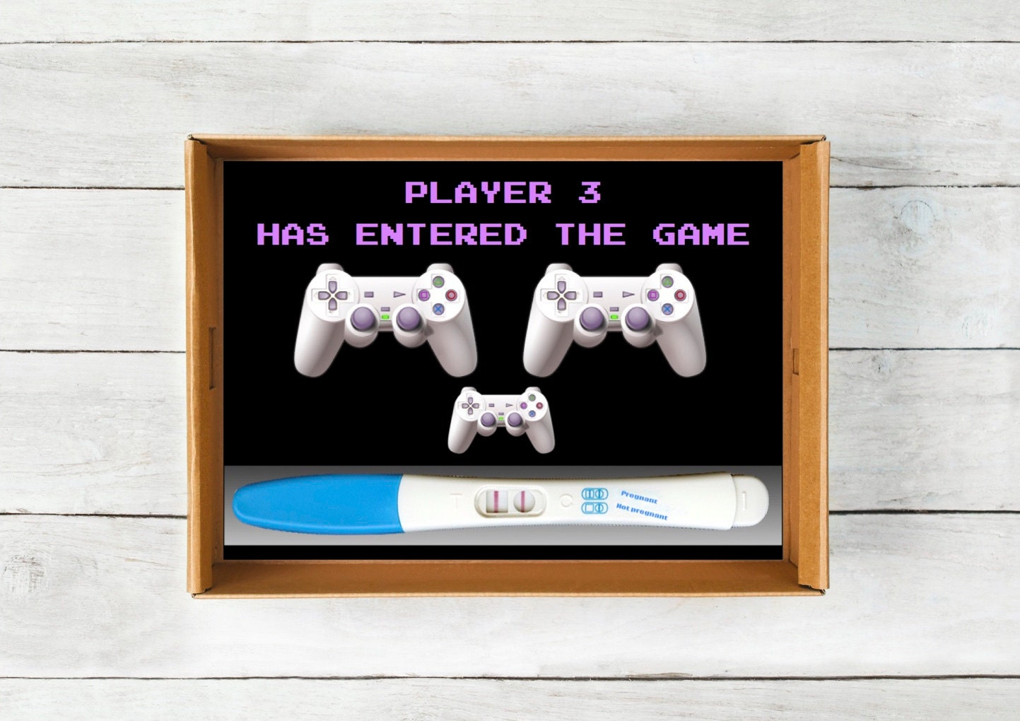 Playstation Baby Announcement Instant Download Video Game – Electronic Baby Announcements