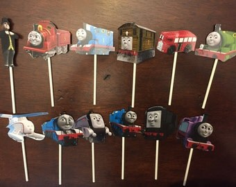 Thomas the Train cupcake toppers (12)