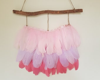 Feather Wall Hanging | Real Feathers | Boho | Wall Decor | Home Decor
