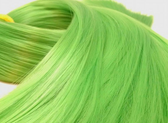 Link Shamrock Green Nylon Doll Rerooting Hair for Monster High, Ever After, Barbie, Sindy, Dawn, Crissy Rehair My Little Pony INTL SHIP