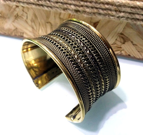 Vintage Gold Plated Indian Cuff Bracelet/Indian Bracelet/Boho Chic/Plated Cuff/Indian Jewellery/Gift for Her/Bohemian Jewellery/Boho Cuff