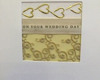 Hand-crafted wedding card