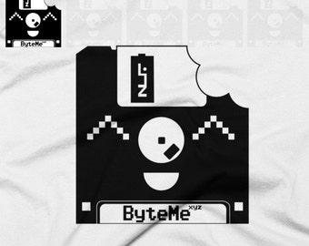 Byte Me Floppy Disk Cute Nerdy T-Shirt