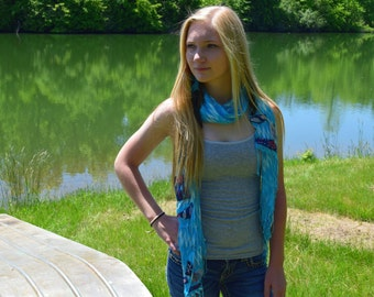 Sky blue scarf (Indian Summer)