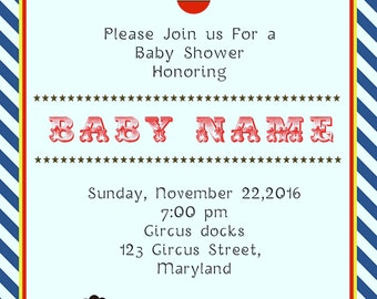 Circus Baby Shower Invitations -BSI_CCS_02