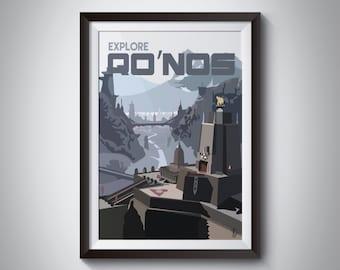 Star Trek Travel Poster: Qo'noS (instant download)