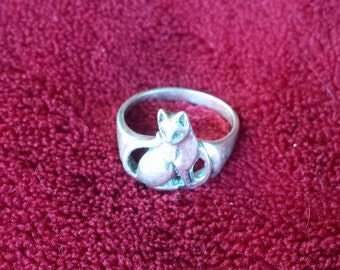 Sterling Silver Cat size 7.5
